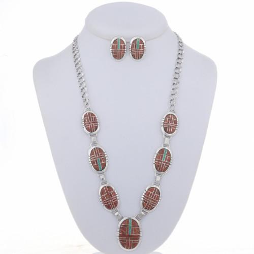 Spiny Oyster Opal Necklace Set 24649