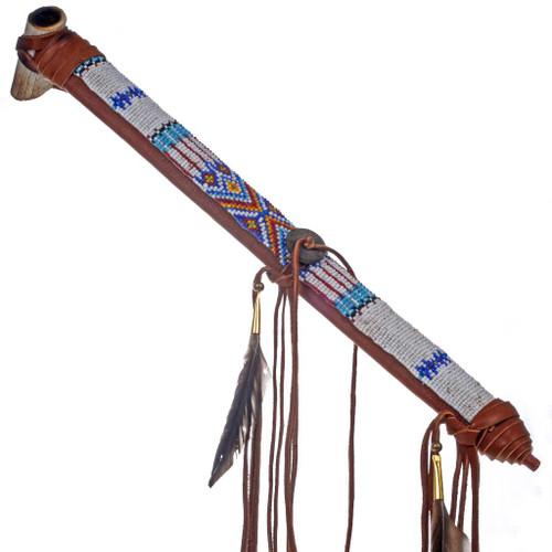 Deer Antler Peace Pipe 24566