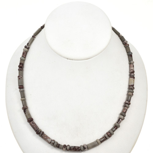 Picture Jasper Tube and Rondelle Beads