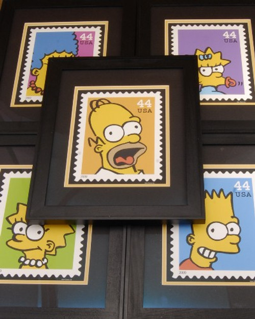 Limited Edition The Simpsons Quality Matched Framed Art Print Set 2009