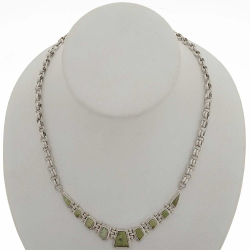 Green Turquoise Necklace 27014