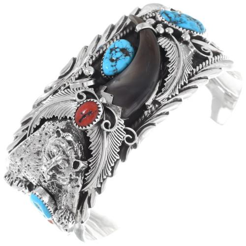 Turquoise Bear Claw Mens Bracelet 28370