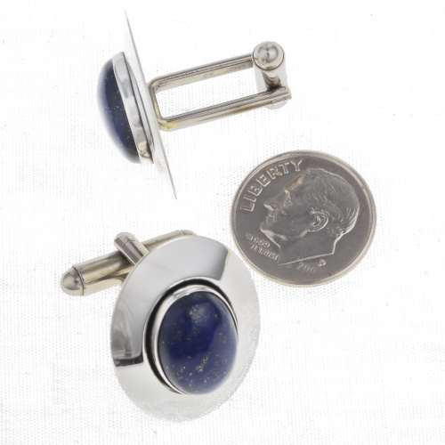 Lapis Silver Cuff Links 24465