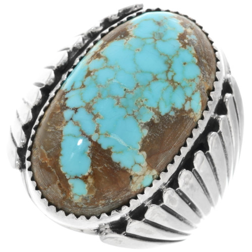 Spiderweb Turquoise Mens Ring 14310
