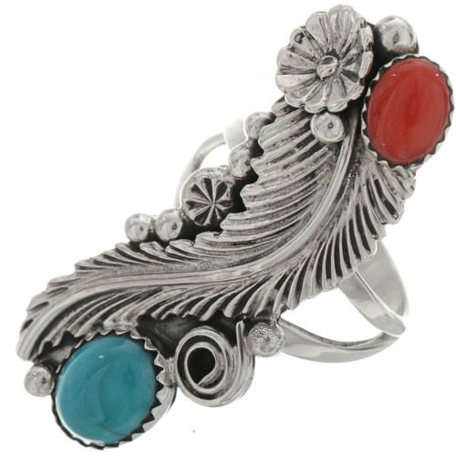 Navajo Turquoise Ladies Ring 24676
