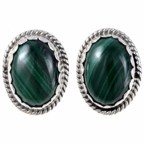 Malachite Navajo Earrings 24877