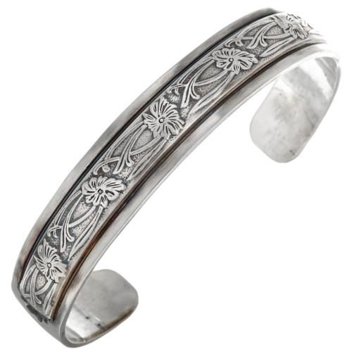 Western Style Silver Mens Ladies Cuff Bracelet 282