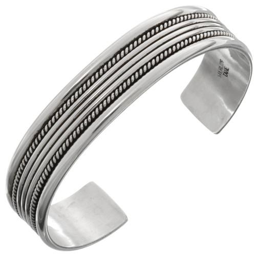 Navajo Twist Wire Smooth Silver Cuff12885