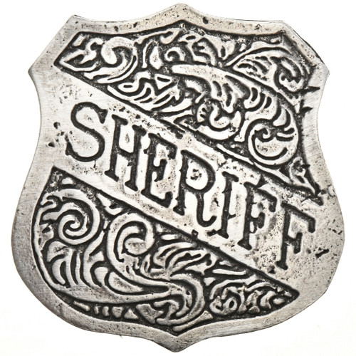 Western Silver Sheriff Badge 29004