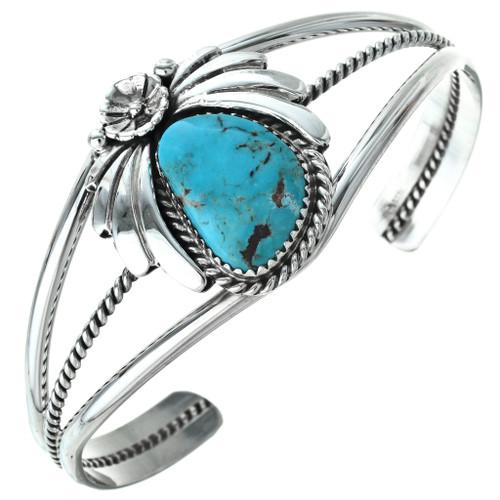 Turquoise Ladies Bracelet Navajo Silver Cuff 29593