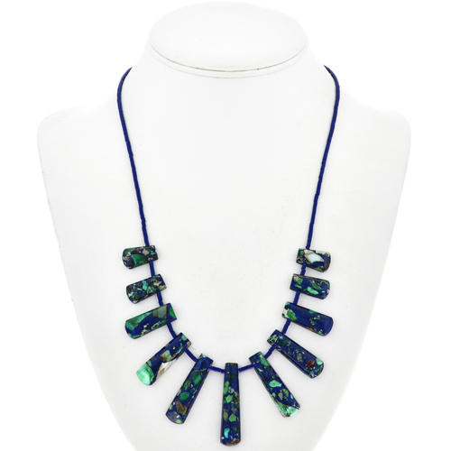 Green Blue Jasper Necklace 29060