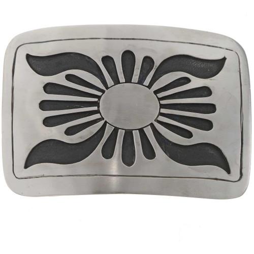 Overlaid Silver Belt Buckle 23105