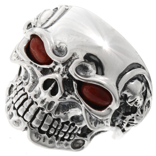 Ghost Rider Coral Silver Ring 26023