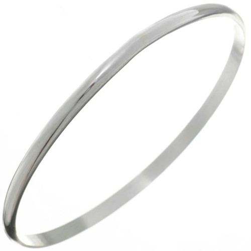 Hammered Silver Navajo Bangle Bracelet 26451