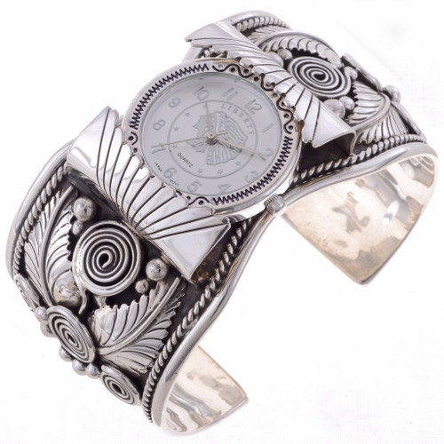 Native American Silver Cuff Watch 24480