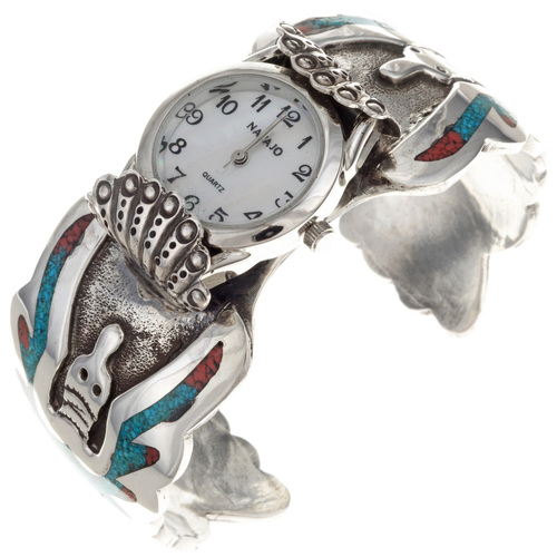 Old Pawn Navajo Cuff Watch 23875