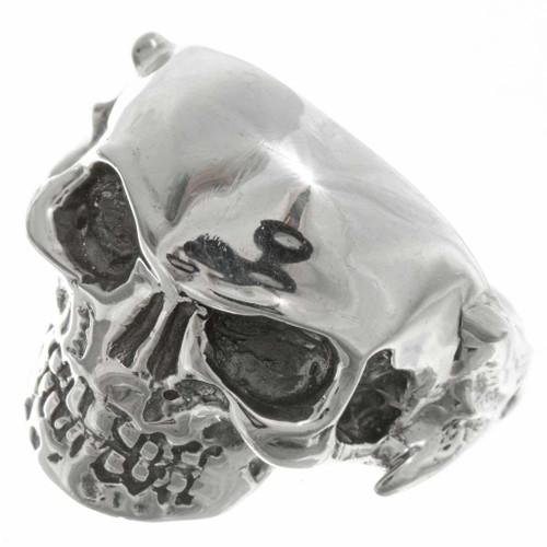 Silver Skull Biker Mens Ring 26772