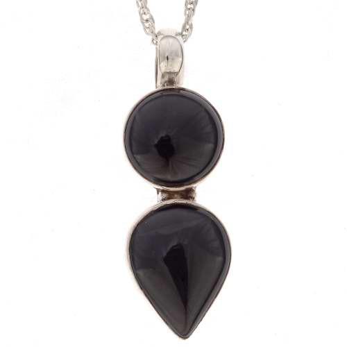 Black Onyx Southwest Pendant  16369