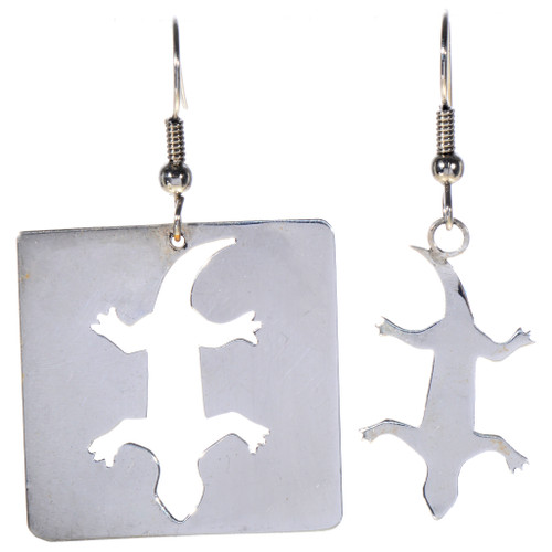 Silver Lizard Southwest Earrings 14475