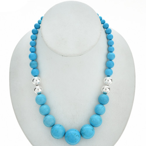 Native American Turquoise Silver Choker 29745
