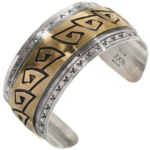 Silver Gold Overlaid Handmade Cuff 11862