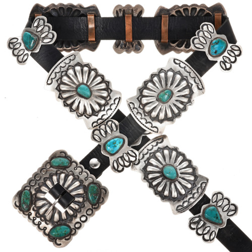 Old Pawn Native American Concho Belt 11451