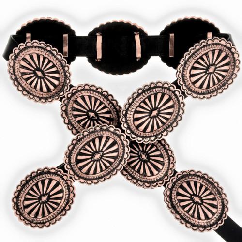 Navajo Copper Concho Belt 24054