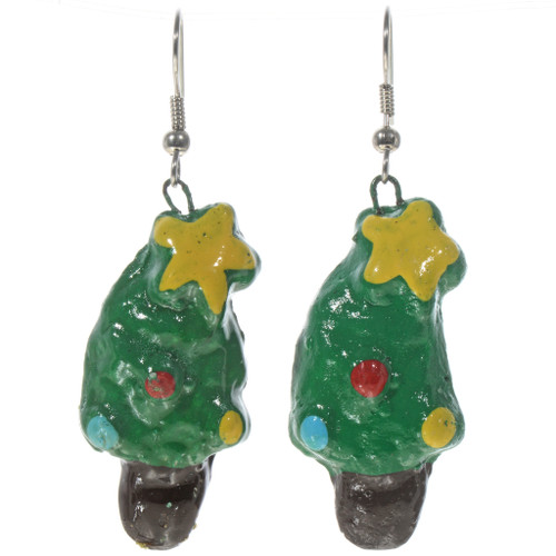 Navajo Christmas Tree Earrings  14431