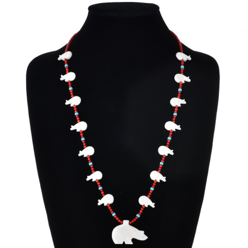 Native American Bear Fetish Necklace 22056