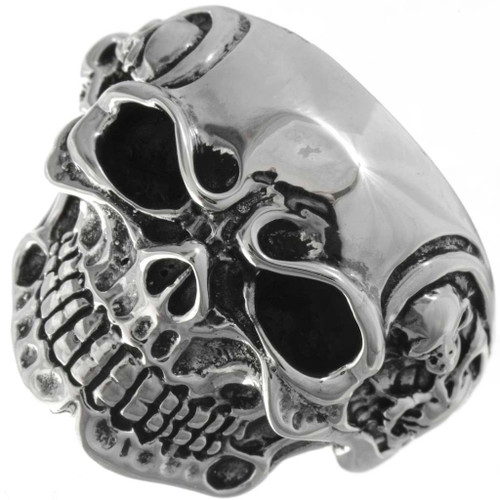 Tribal Skull Mens Ring 26024