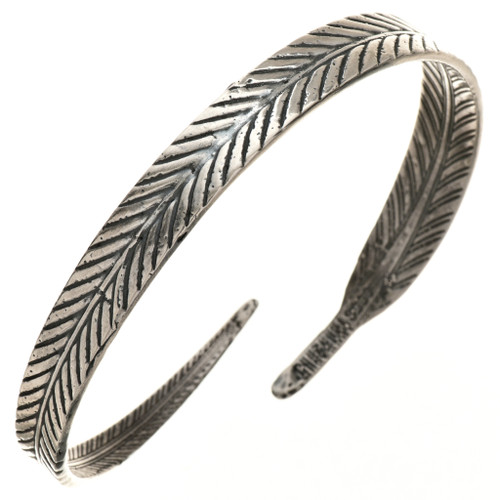 Navajo Sterling Feather Bracelet 29722