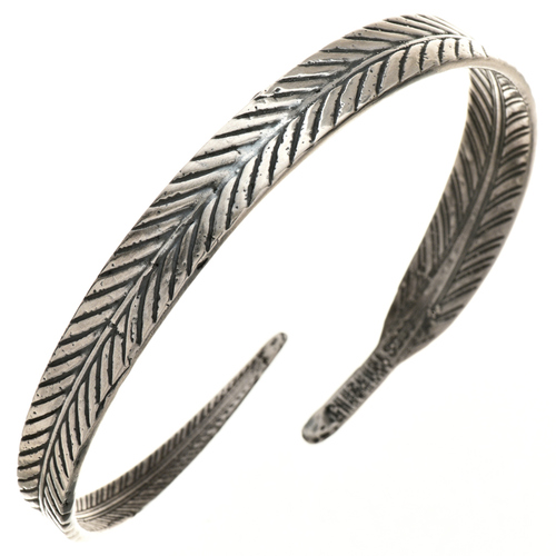 Navajo Sterling Feather Bracelet 29722