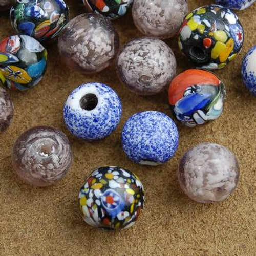 4 Ounces of 20mm Glass Beads 15-20 count