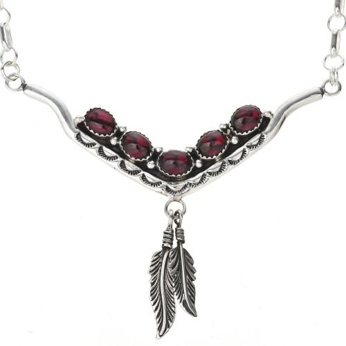 Navajo Gemstone Silver Necklace 29251