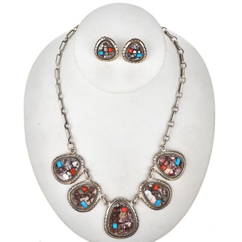 Wild Horse Magnesite Turquoise Necklace Set 29687