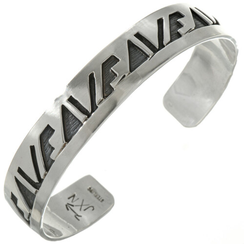 Overlaid Silver Hopi Pattern Cuff 23602