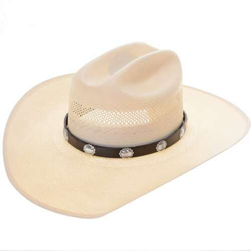 Hammered Silver Concho Hat Band 22098