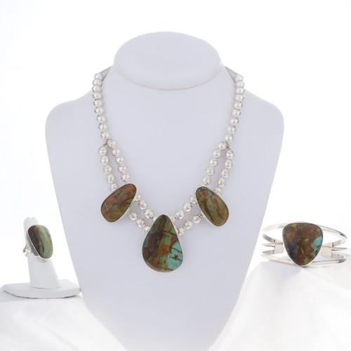 Southwest Turquoise Necklace Set 16926