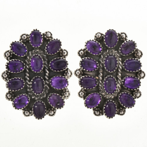 Navajo Amethyst Cluster Earrings 28846