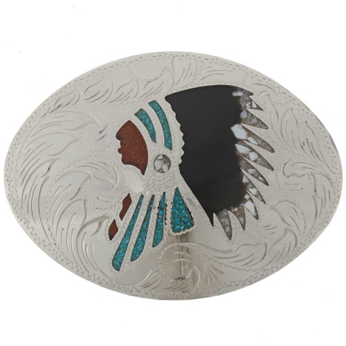 Indian Chief Belt Buckle 27429