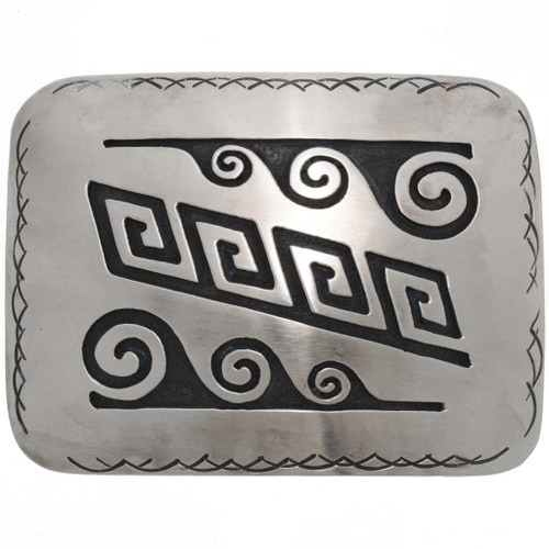 Hopi clouds Waves Belt Buckle 25933