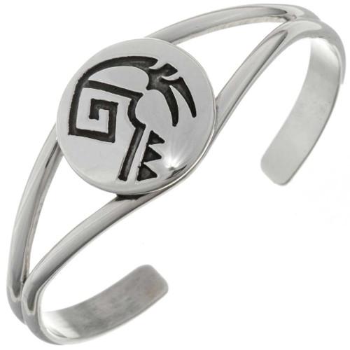 Ladies Overlaid Silver Cuff Bracelet 27172