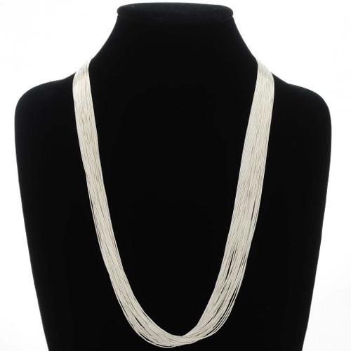 Native American Liquid Silver Necklace 32636