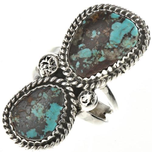 Navajo Turquoise Silver Ladies Ring 28516