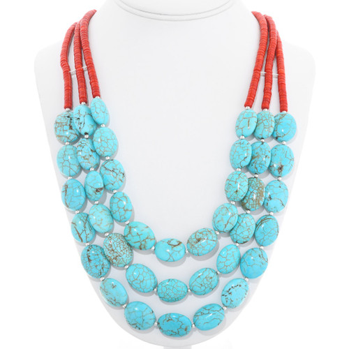 Native American Turquoise Necklace 22338