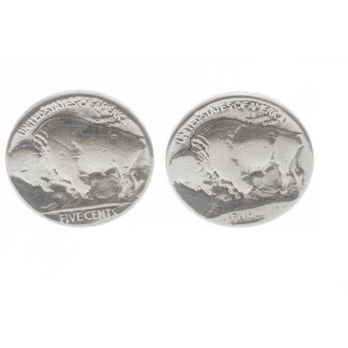 Navajo Coin Post Earrings 23554