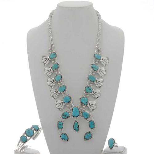 Squash Blossom Necklace Set 25451
