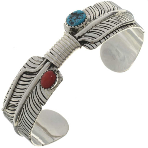Turquoise Coral Silver Bracelet 27381