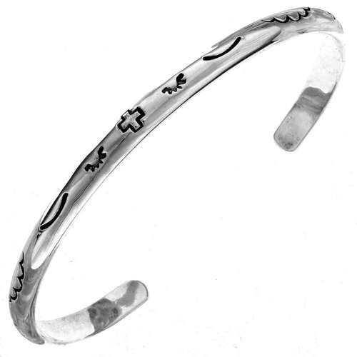 Navajo Silver Cuff Bracelet 15899