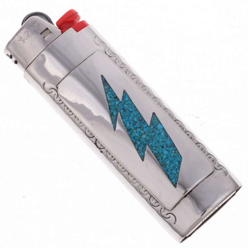Turquoise Lightning Bolt Lighter Case 23098